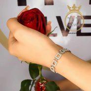 دستبند نقره زنانه اسپرت
