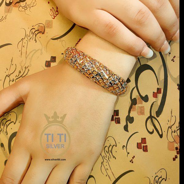 دستبند النگویی استیل زنانه