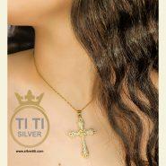 زنجیر و پلاک زنانه صلیب