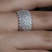 انگشتر پرنسسی نقره