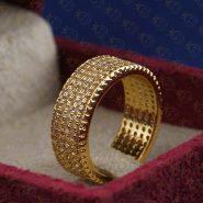 انگشتر استیل طلایی