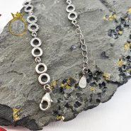 دستبند زنانه اسپرت نقره