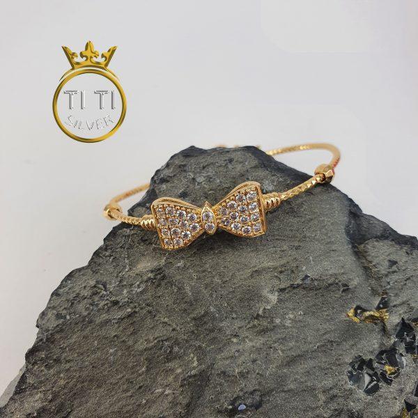 دستبند النگویی طرح طلا بچه گانه
