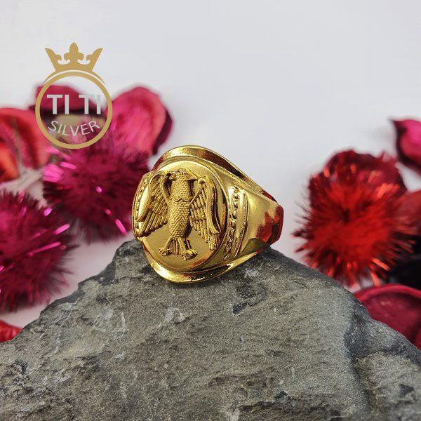 انگشتر مردانه طرح عقاب روکش طلا