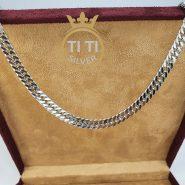 ست زنجیر و دستبند استیل مردانه