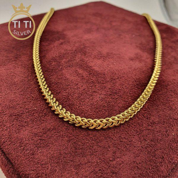 زنجیر مردانه استیل طرح طلا
