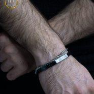 دستبند استیل مردانه gucci