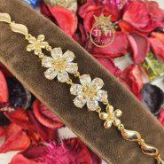 دستبند طلایی استیل