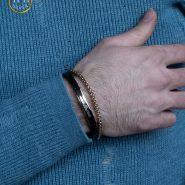 دستبند چرم مردانه امپرو آرمانی