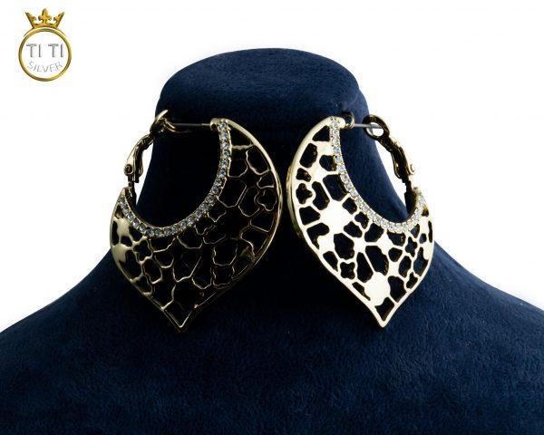 گوشواره حلقه ای طرح طلا