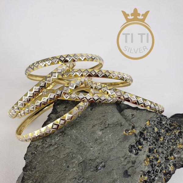 النگو نقره با روکش طلا