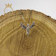 زنجیر پلاک نقره طرح فرشته