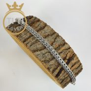 دستبند مردانه استیل سیاه قلم