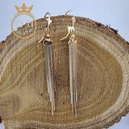 گوشواره آویزی استیل دو رنگ