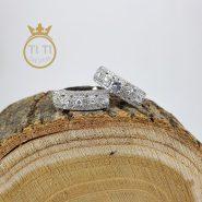 حلقه و پشت حلقه ای طرح جواهر