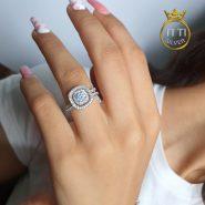 انگشتر دخترانه ظریف نقره
