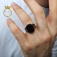 انگشتر مردانه عقیق سیاه
