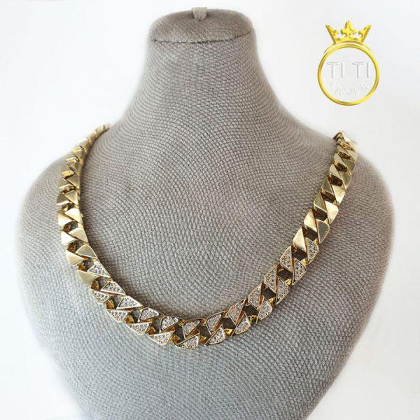 زنجیر تک با روکش طلا 18 عیار