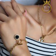 دستبند استیل زنانه آویز دار