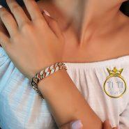 دستبند کارتیر طلایی استیل