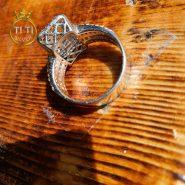 انگشتر ظرح جواهر نقره