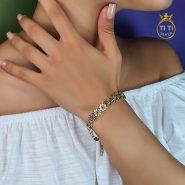 دستبند استیل طرح گل