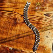 دستبند مردانه رنگ ثابت استیل